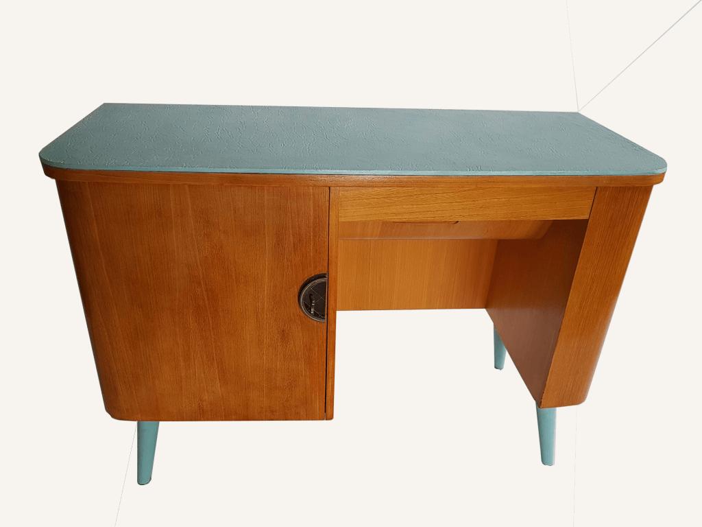bureau année 50, bureau vintage, meuble revisité