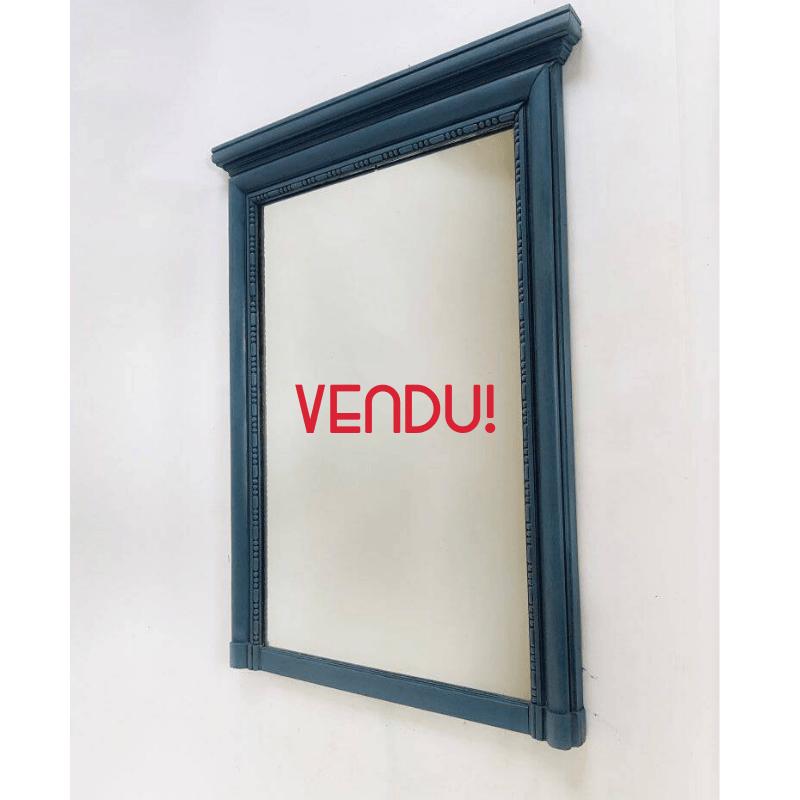 Miroir vintage bleu pétrole