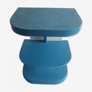 Bout de canapé, table d'appoint, chevet, bleu grec