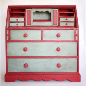 bureau vintage, pin, secretaire, commode