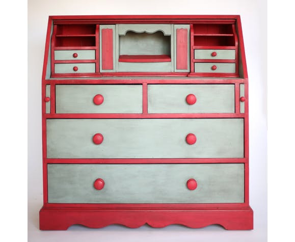 bureau vintage, pin, secretaire, commode